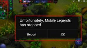 Mobile Legends sering force close