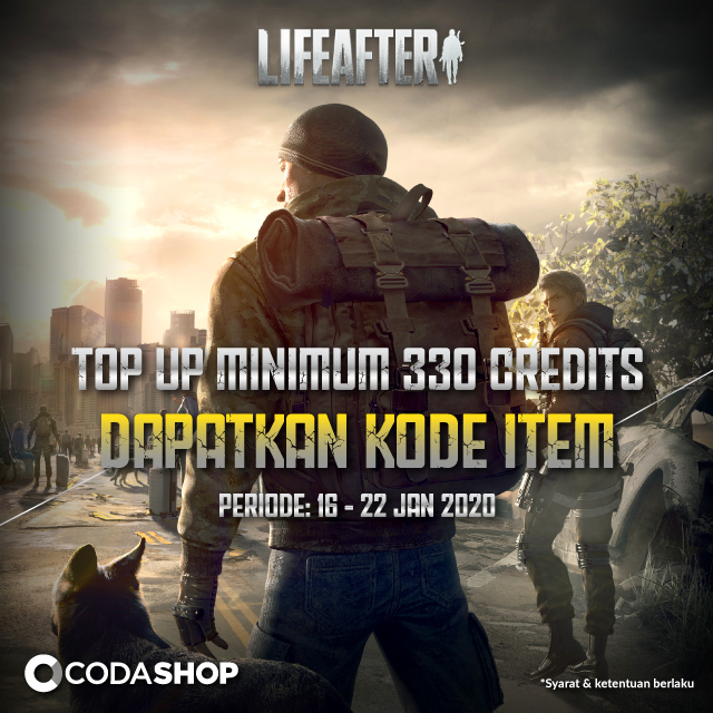 Top up Credits Life After Dapet Kode Item