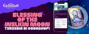Top up Welkin Moon Genshin Codashop