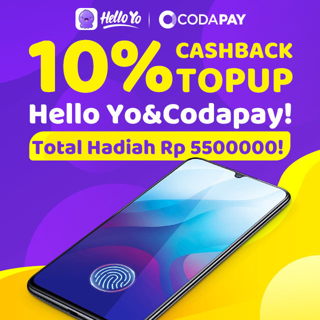 Cashback Bonus Top Up Diamond Hello Yo di Codapay